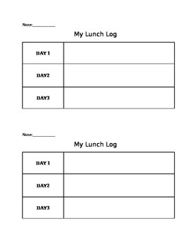 Math Packet for School Lunch Stem Activity