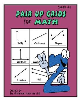 Math Pair-up Grids