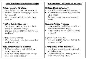 Math Partner Conversation Tool