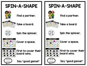 Math Partner Games: Shapes