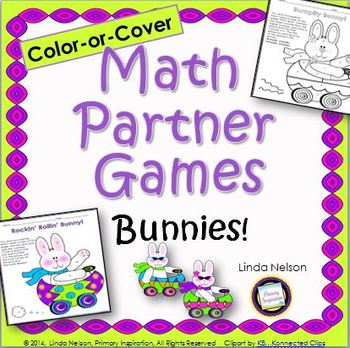 Math Partner Games for Addition and Subtraction: Bunnies