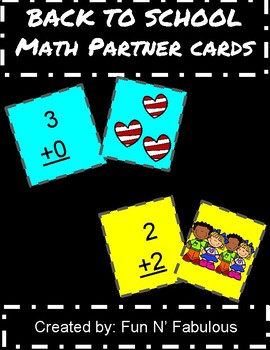 Math Partner Match Cards