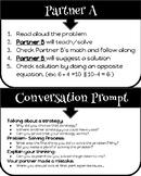 Math Partner Role Cards