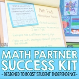 Math Partner Success Kit - For Guided Math and Math Workshop