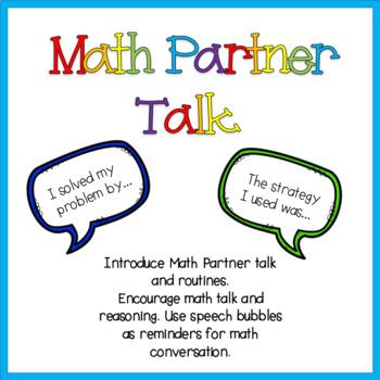 Math Partner Talk Conversation Starters