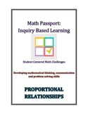 Math Passport- Inquiry Based Math- Student Centered Math Challenges
