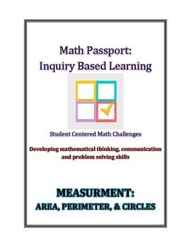 Math Passport- Inquiry Based Math- Student Centered Math Challenges