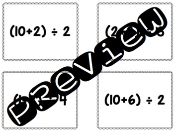 Math Passwords - Add, Then Divide