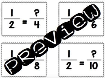 Math Passwords - Equivalent Fractions