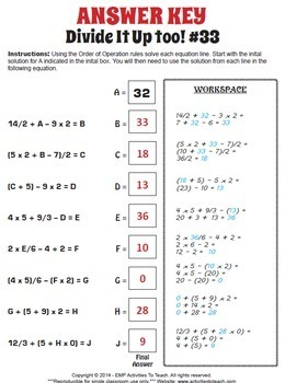 Math Path - Order of Operations - Adding, Subtracting, Multiplying, & Division
