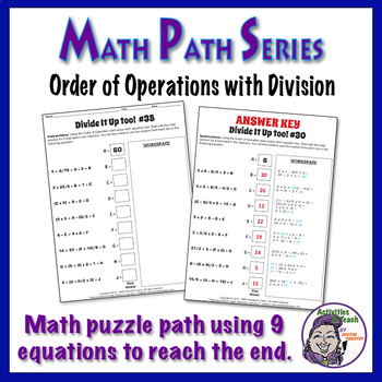 Math Path - Order of Operations - Adding, Subtracting, Mul
