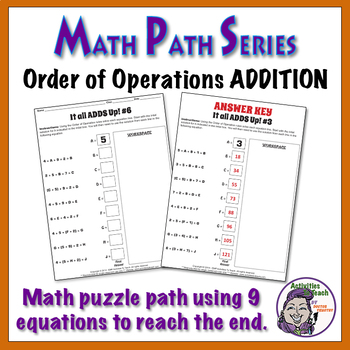 Math Path - Order of Operations - Addition