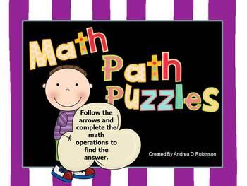 Math Path Puzzles