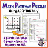 Math Pathways - Addition Practice Puzzles