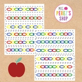 Math Pattern Activity Cards - Linking Chains