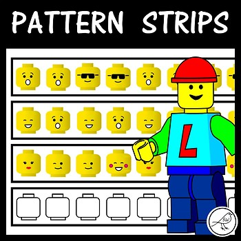 Math Pattern Strips   (Lego heads)