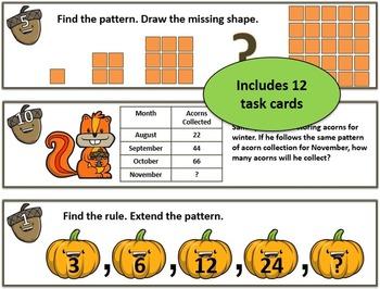 Math Pattern Task Cards - 4th/5th Grade