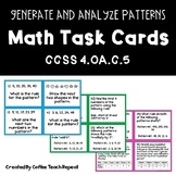 Math Pattern Task Cards CCSS 4.OA.C.5