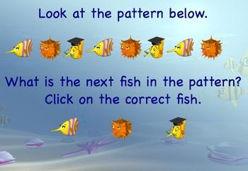 Math Patterns Kindergarten, First Grade  Smartboard Lesson