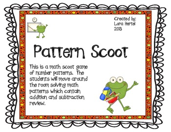 Math Patterns Scoot Game