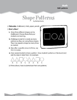 Math Patterns (Ten-Minute Activities)