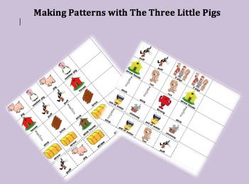 Math Patterns With The Three Little Pigs