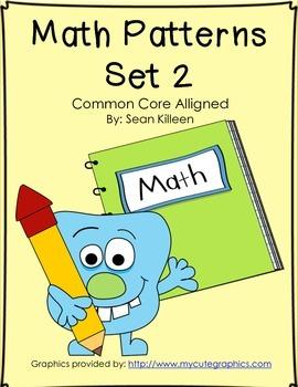 Math Patterns for 3-5 Grade- Set 2