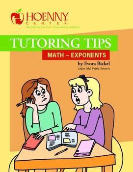 Math Peer Tutoring Tips--Exponents