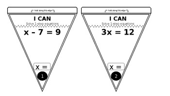 Math Pendants for Math Journals