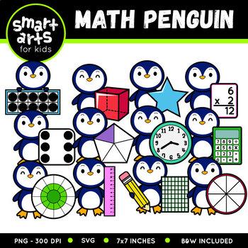 Math Penguin Clip Art