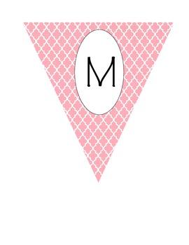 Math Pennant Banner