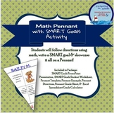 Math Pennant with SMART Goals Activity