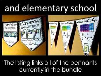 Math Pennants Growing Bundle