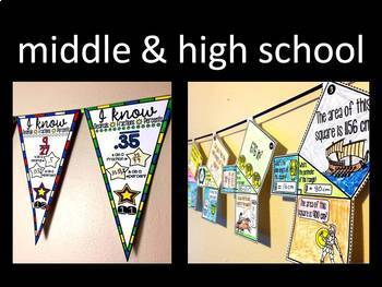 Math Pennants Bundle