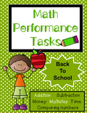 Math Performance Task {Back to School]
