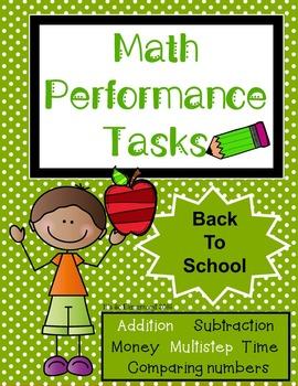 Math Performance Task {Back to School]