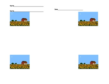 Math Performance Task : Farm Animals