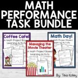 Math Performance Tasks  Fourth Grade Test Prep Bundle