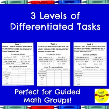 Math Performance Task on Money, Division, and Geometry