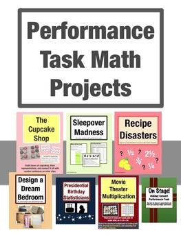 Math Performance Tasks Complete Bundle