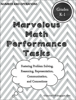 Math Performance Tasks for Kindergarten and First Grade