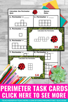 40 perimeter task cards 3rd grade math centers perimeter game scoot review. Black Bedroom Furniture Sets. Home Design Ideas