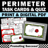 40 Perimeter Task Cards, 3rd Grade Math Review