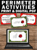 Perimeter Task Cards Worksheets & Quiz 3rd 4th Grade Common Core