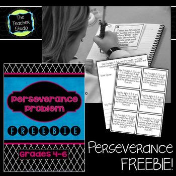 Math Perseverance Problem Solving Freebie