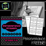 Math Perseverance Problem Solving Freebie
