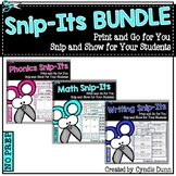 Snip Its: Math, Phonics, and Writing Bundle