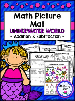 Math Picture Mat: Addition and Subtraction Activity {Under