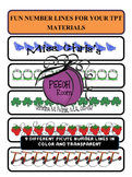 Math Picture Number Lines {CLIPART}