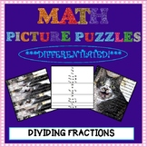 Math Picture Puzzle Games: Dividing Fractions